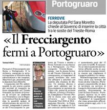 Interrogazione parlamentare Frecciargento Trieste - Roma