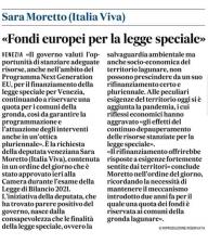 Fondi europei per la legge speciale