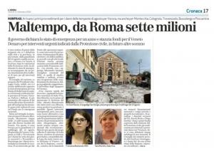 Maltempo, da Roma 7 milioni (L'Arena)