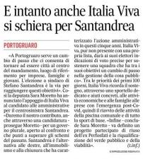 E intanto anche Italia Viva si schiera per Santandrea (Il Gazzettino)