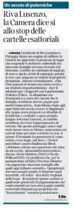 """""""Un passo importantissimo per Chioggia. Un risultato ottenuto grazie alla collaborazione di tutti"""". Oggi su La Nuova di Venezia e Mestre e Corriere del Veneto"""