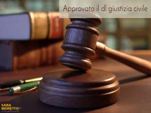 Decreto legge Giustizia civile